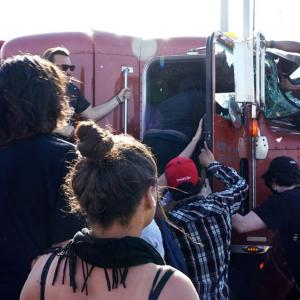 Video shows semi-truck driving through protesters in Minneapolis | USA News